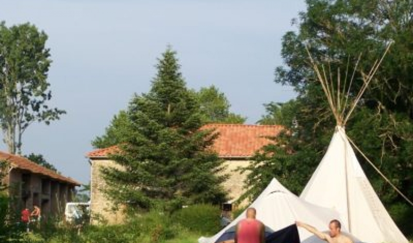 camping Tipi ariege pyrenees